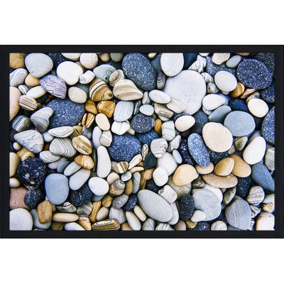 """PicturePerfectInternational """"Water Stones 16"""" Framed Photographic Print Size: 35.5"""" H x 51.5"""" W x 0.75"""" D"""
