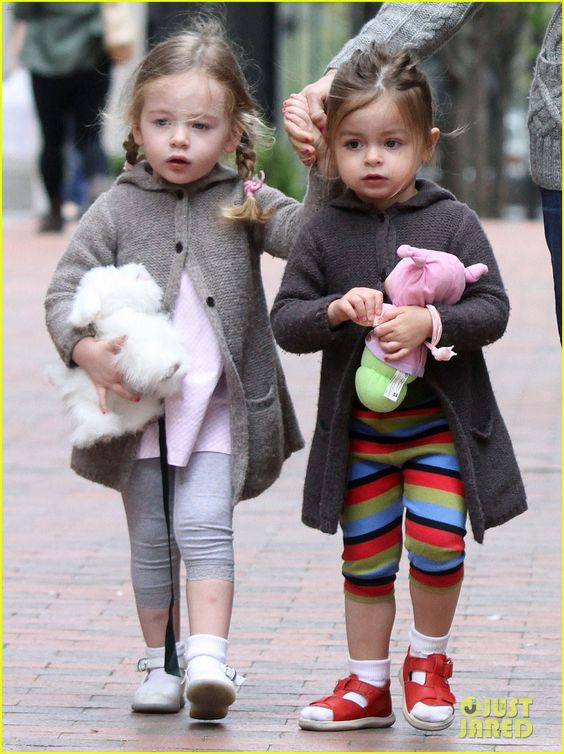 SJP's twins - Marion and Tabitha