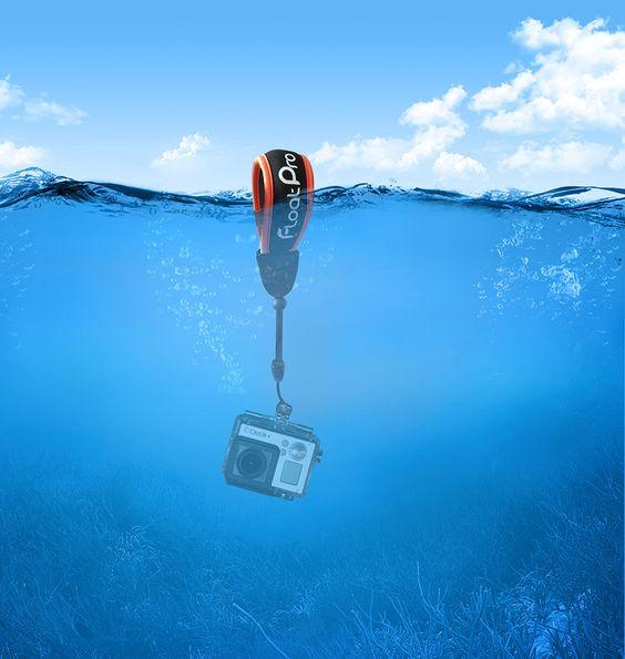 Floating wrist strap for GoPro & waterproof camera. Must-have GoPro accessories. #1 best selling strap http://www.floatpro.co