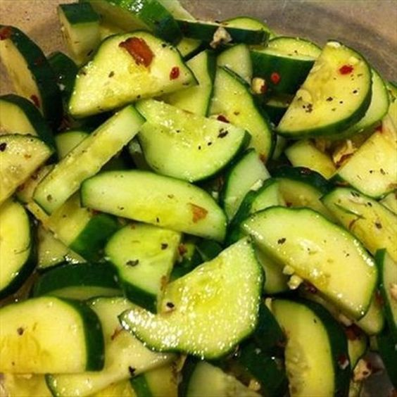 Sweet & Spicy Cucumber Salad - This is the perfect side dish for a backyard cookout!