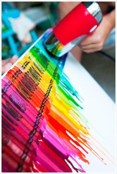 En esta entrada te voy a enseñar a hacer un lienzo con crayones derretidos. Paso a paso y con fotos aprenderás a hacer esta bonita y fácil obra de arte.