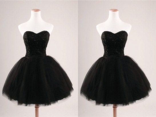 Short Black Lace Prom Dress Formal Party Dress by lovingbridal ...