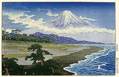 1929-32 - Shôtei,Takahashi - Fuji from Miho no Matsubara