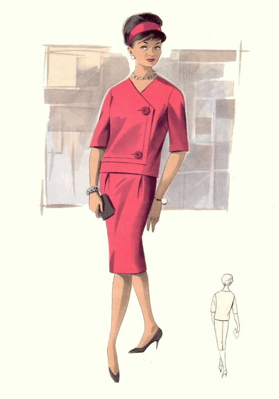 1960 39 S Fashion Illustration Style Vintage Rockabilly