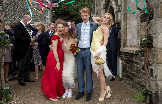 When Mary (Rachel McAdams) and Tim (Domhnall Gleeson) tie the knot in About Time, Mary flouts the white dress tradition and goes for red. Don't be afraid to break the rules.