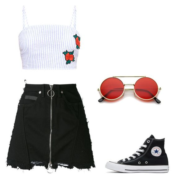 Untitled #26 by pavlinakrc on Polyvore featuring polyvore fashion style County Of Milan Converse clothing