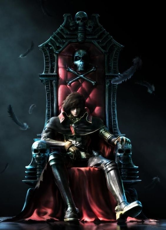 Capitan Harlock - https://pillsofmovies.wordpress.com/2015/05/19/capitan-harlock/ (Space pirate captain Harlock,I almost mistook him as Gabriel from Castlevania: lords of shadow)