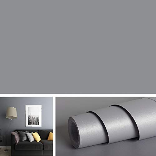 Solid Grey Peel And Stick Wallpaper