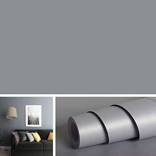 Livelynine Solid Grey Wall Covering Removable Wallpaper P Https Www Amazon Com Dp B07qj9jjp7 Ref Grey Wallpaper Peel And Stick Grey Wallpaper Shelf Liner