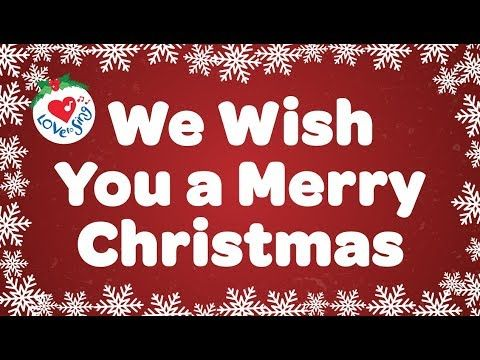 We Wish You A Merry Christmas With Lyrics Christmas Carol Song Youtube
