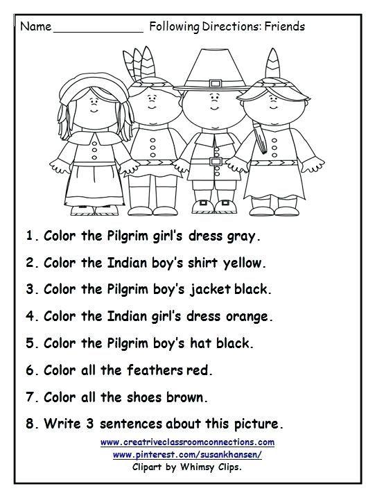 7th Grade Thanksgiving Reading Comprehension Worksheets
