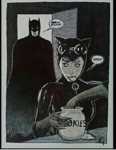 Catwoman Batman cookie
