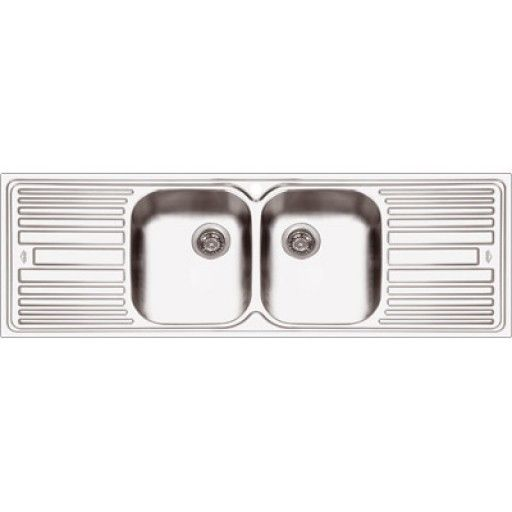 abey deluxe 202 double bowl double drain sink baths