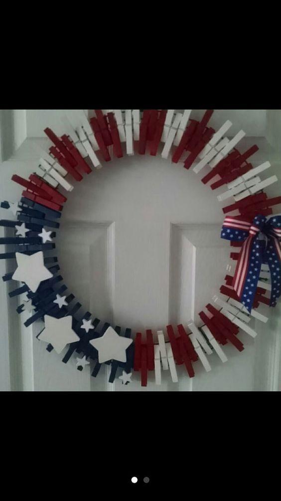Amerikanische Flagge Kleidung Pin Kranz von KraftyKarenTreasures