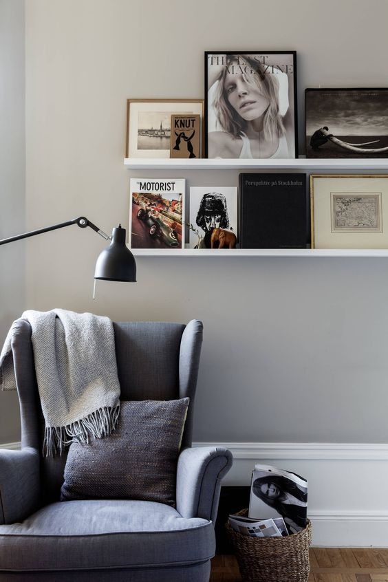 Reading nook with Ikea 'Strandmon' armchair