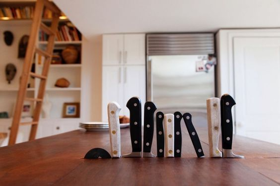 Now that's a cool way to store your knives! (The Brooklyn Home Company   Remodelista): Butcher Block, Knife Block, Storage Idea, Cool Ideas, Design Idea