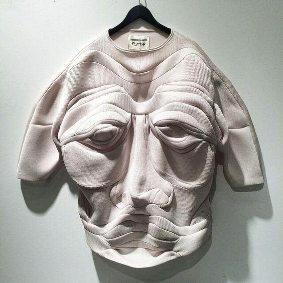Henrik Vibskov Pullover Mit Origami-gesicht-motiv - Henrik Vibskov Boutique…