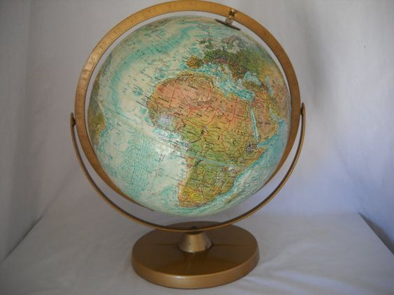 Vintage World Ocean Series Globe By Replogle by SeaPillowTreasures