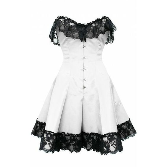 White Corset Dress with Lace ❤ liked on Polyvore featuring dresses, white corset, long lace dress, gothic corset dresses, corset dresses and long white cocktail dress