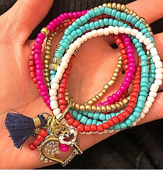 Colorful beaded cross bracelet , beach , beading, bead jewelry, boho anklet, gypsy anklet, ibiza jewelry , tribal jewelry