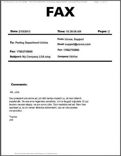 fax example google search business documents With need to fax a document