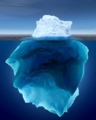 EVER SEEN AN ICEBERG FROM TOP TO BOTTOM