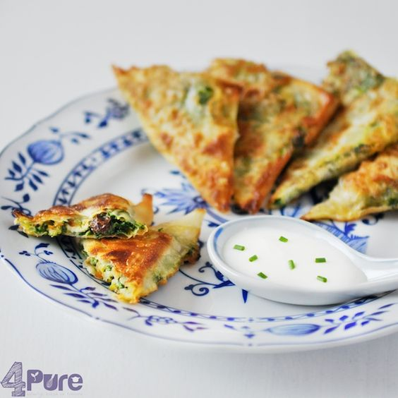 Appetizer spinach phyllo dough and question of the week for Phyllo dough recipes appetizers indian