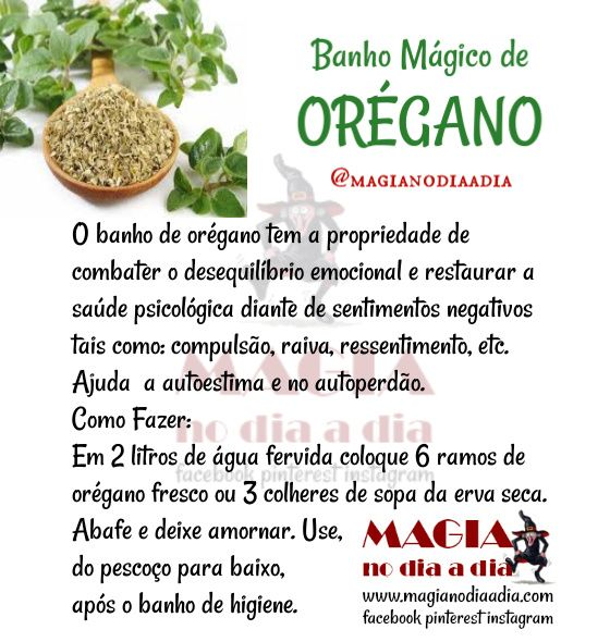 Banho Magico De Oregano Em 2020 Com Imagens Banho De Ervas Magia Das Ervas Ervas Magicas