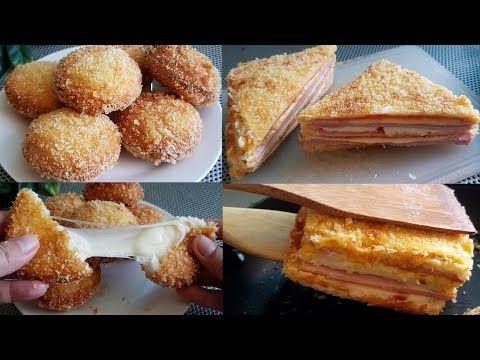 ว ธ ทำขนมป งช สบอล แซนว สทอดกรอบไส แฮมเชสด าช ส แบบง ายๆ L แม ม ว L Esy Cheese Ball Youtube ช สบอล อาหาร เบเกอร