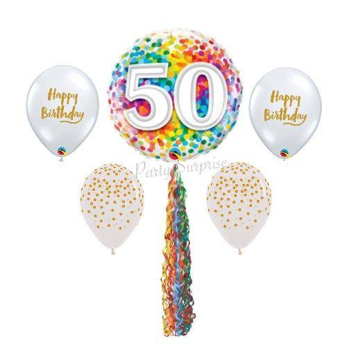 "Happy 50th Birthday FIFTY 18/"" Foil Mylar Birthday Party Balloon Decorations"
