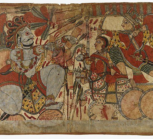 Indian Epics: Images and PDE Epics: Image: Ghatotkacha and Abhimanyu