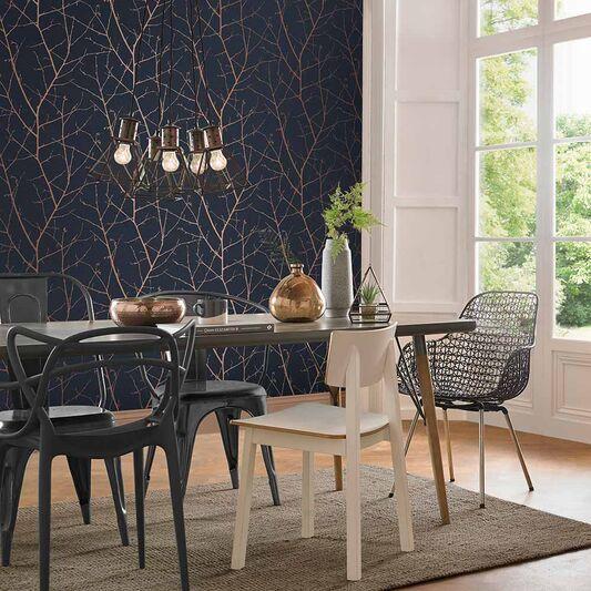 Boreas Midnight Wallpaper Large Dining Room Wallpaper Wallpaper Living Room Home Wallpaper