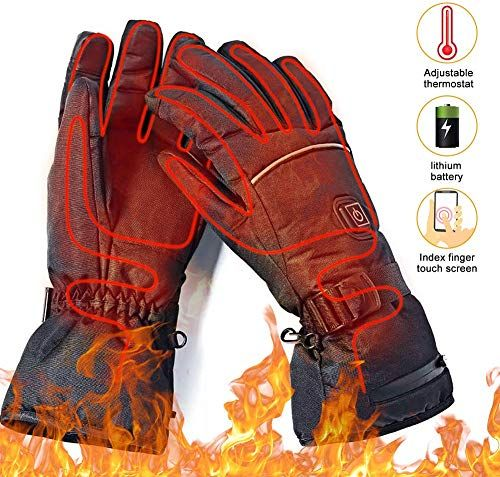 Best Seller Upstartech Heated Gloves Men Women Rechargeable Upgraded Electric Heated Gloves 3 Levels Temperature Control Touchscreen Hand Warmer Gloves Skiin Heated Gloves Warm Gloves Gloves