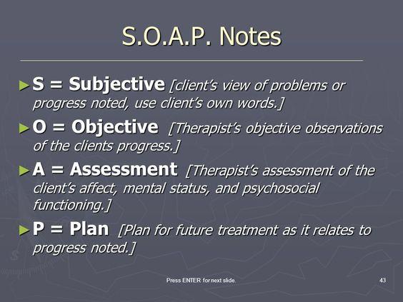 behavioral health soap note