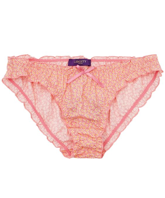 Pink Speckle Print Frill Knickers, Liberty London Collections.