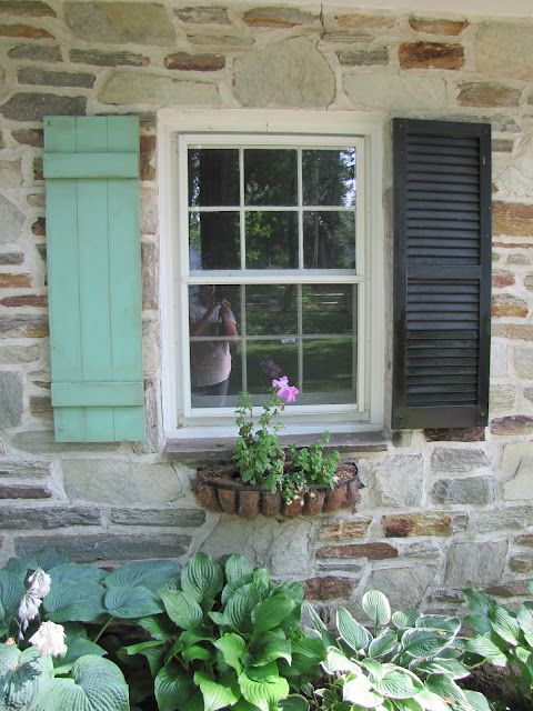The painted home how to make your own exterior shutters - Pictures of exterior shutters on homes ...