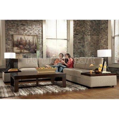 Tosha Linen Sectional Living Room Set