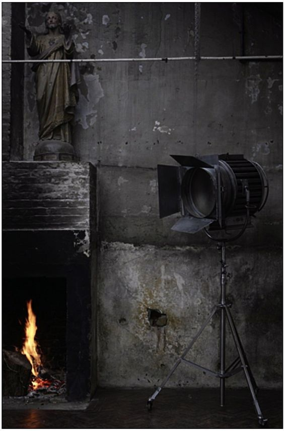 Industrial fireplaces and grey on pinterest for Industrial punk design