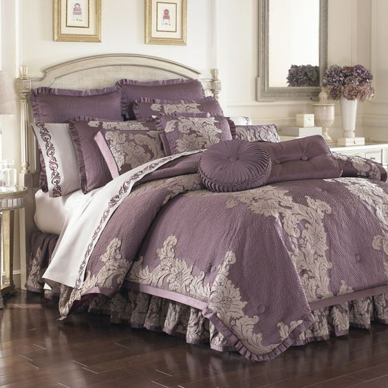 Gray Bedding At Bed Bath And Beyond : Anastasia purple comforter sets bed bath beyond