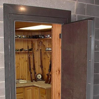 Walk in gun safe a good idea for the next house with for Walk in safes for homes