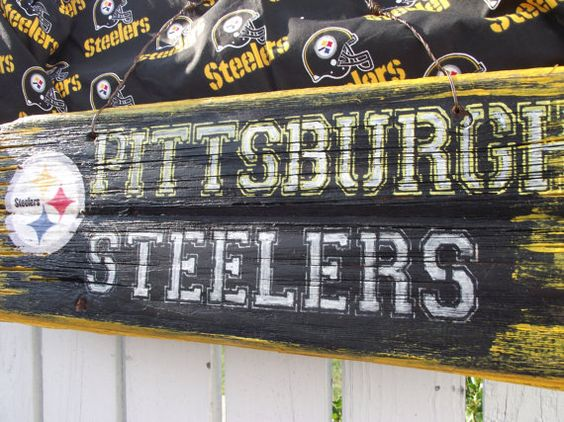 Pittsburgh Steelers Sign Reclaimed Wood Sign Recycled Wood Sign Rustic Wood  Sign. $50.00, via - Pittsburgh Steelers Sign Reclaimed Wood Sign Recycled Wood Sign