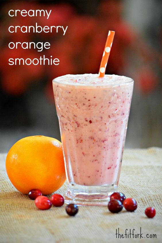 Creamy Cranberry Orange Smoothie & Marathon Countdown | Orange ...