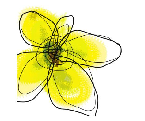 Yellow Petals 1 Giclee Print by Jan Weiss at Art.com