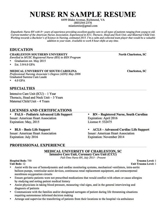 telemetry floor nurse resume