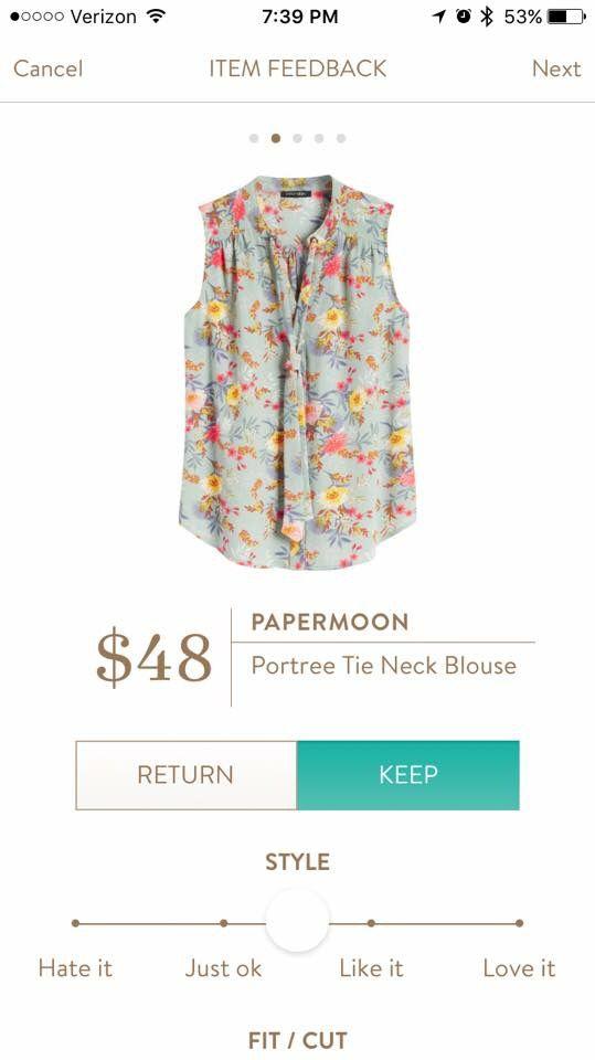 Paper moon Tie Neck Blouse