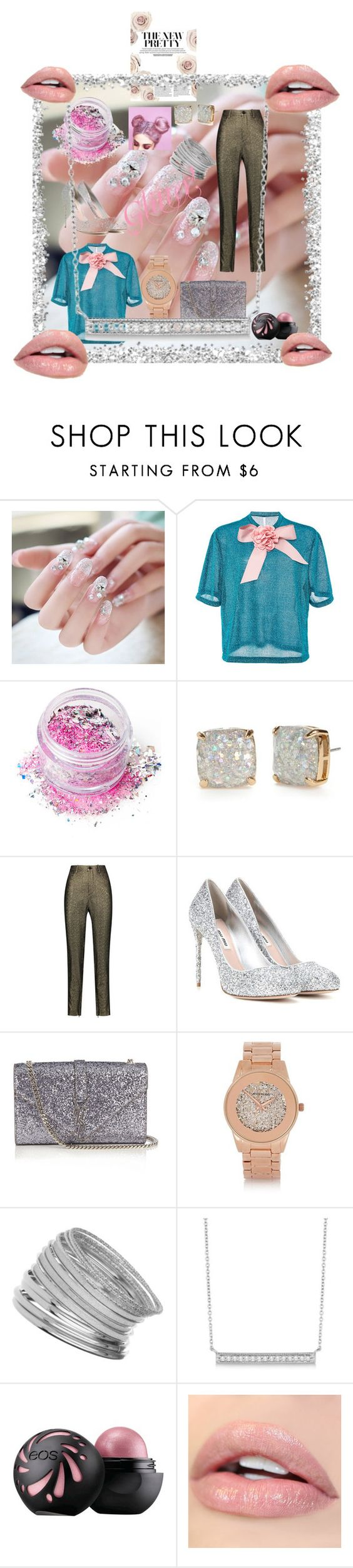 """All that Glitters may be Gold."" by bookworm-and-animefreak ❤ liked on Polyvore featuring beauty, Alcoolique, In Your Dreams, Kate Spade, Isabel Marant, Miu Miu, Yves Saint Laurent, River Island, Miss Selfridge and Allurez"