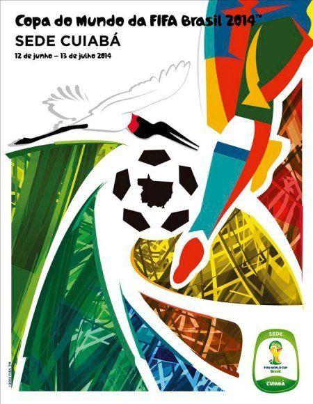 Cartaz sede Cuiabá - Copa 2014