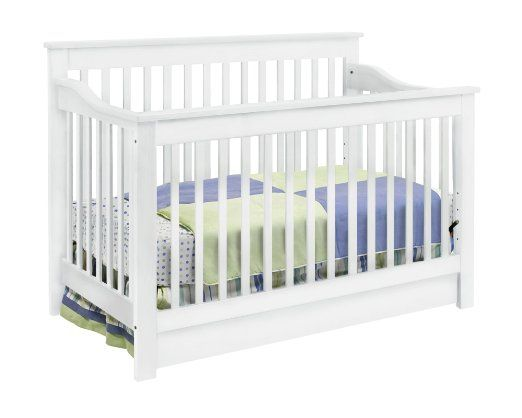DaVinci Piedmont 4-in-1 Convertible Crib with Toddler Rail, White