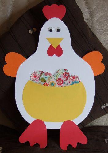 Poule suspendu de p ques paques pinterest - Deco paques maternelle ...