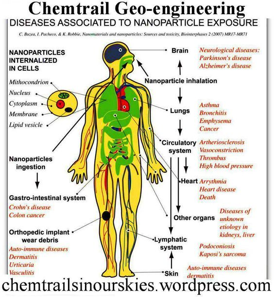 Chemtrail Geo-engineering Diseases Associated To Nanoparticle Exposure: